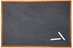 3D Chalkboard. Blank chaklboard with chalk sticks. This is a better version from the equivalent pictures in my portfolio. This is a 3D rendered picture royalty free illustration