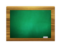 3d chalkboard of green color with chalk Stock Photo
