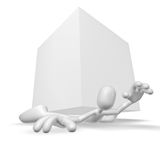3d character. Isolated abstract 3D character on white background Stock Photos