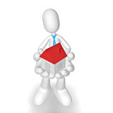 3D character. Isolated abstract 3D character on white background Royalty Free Stock Photography