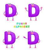 3D character. Isolated abstract 3D character D on white background Stock Photos