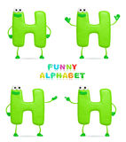 3D character. Isolated abstract 3D character H on white background Royalty Free Stock Images