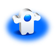 3D Character. White and blue 3D Character illustration Royalty Free Stock Images