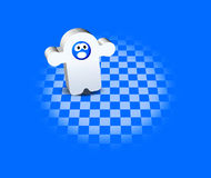 3D Character. White and blue 3D Character illustration Stock Images