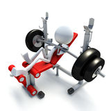3D character building muscles Stock Photography