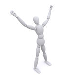 3d character - i'm happy Stock Images