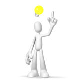 3d character idea. Isolated abstract 3D character on white background Royalty Free Stock Photography