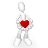 3d character kindness. Isolated abstract 3D character on white background Royalty Free Stock Images