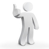 3d character man. Showing thumbs up Stock Photo