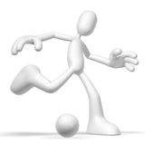 3d character soccer. Isolated abstract 3D character on white background Royalty Free Stock Image