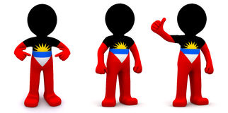 3d character textured with flag of Malawi Royalty Free Stock Photography