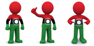 3d character textured with flag of Malawi Stock Photos