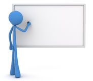 3d character writing on whiteboard Royalty Free Stock Photos