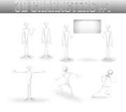 3D characters Royalty Free Stock Photography