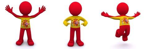 3d charakter flaga Spain flaga Zdjęcie Stock