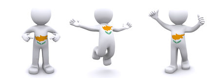 3d charakteru cibory flaga Obraz Stock