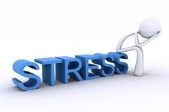 3d charakteru ręk głowy stres Fotografia Royalty Free