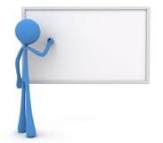 3d charakteru whiteboard writing Zdjęcia Royalty Free