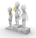 3D charaktery wygrywali medale Zdjęcia Stock