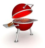 3D charcoal grill Stock Images