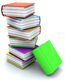3d charicature render of a stack of books Stock Images