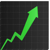 3d chart. Nice 3d chart reprezenting growth and succes in a business Royalty Free Stock Photo