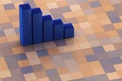 3D Chart Royalty Free Stock Photo