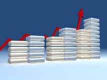 3d chart Stock Photography
