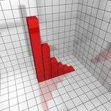 3d chart deficit Stock Photos
