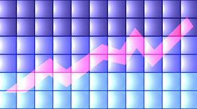 3D Chart - flat Royalty Free Stock Image