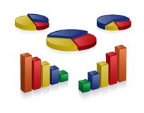 3D charts Royalty Free Stock Photos
