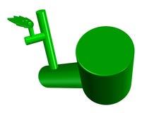 3D che descrive vita e sviluppo verdi Fotografie Stock