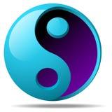 3d che ying il segno di yang illustrazione vettoriale