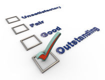3d check list questionnaire Royalty Free Stock Photo
