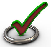 3d check mark Royalty Free Stock Photo