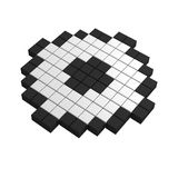 3d checkbox pixel icon. Black and white illustration Stock Images