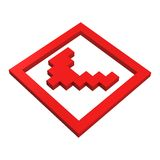 3d checkbox pixel icon Royalty Free Stock Photography