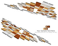 3d checked background. Abstract 3d checked  business background for use in web design Stock Images