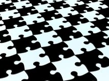 3D Checkered puzzle Royalty Free Stock Image