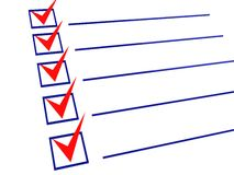 3d checklist. 3d illustration of checklist with all items checked Royalty Free Stock Photography