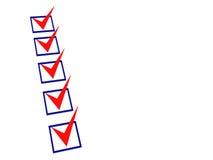 3d checklist Stock Photos