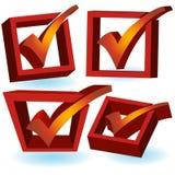 3d checkmark czerwień ilustracji