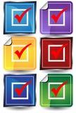 3D Checkmark Sticker Set Stock Photo