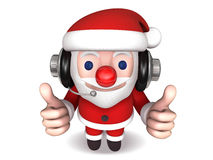 3d cheerful no.1 of santa claus Stock Images