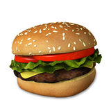 3d Cheeseburger. 3d illustration of a cheeseburger Royalty Free Stock Photography