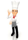 3D Chef Royalty Free Stock Photography