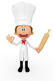 3D chef Royalty Free Stock Photo