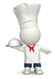 3D Chef bringing the food Royalty Free Stock Photography