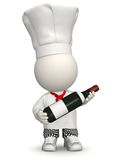 3D Chef with wine Royalty Free Stock Image