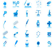 3d chemistry icon Stock Image